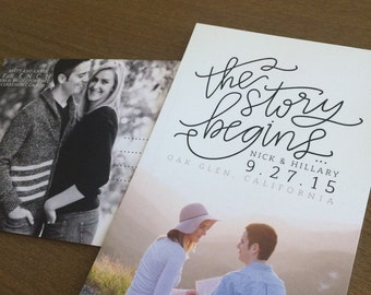 """4x6"""" photo-based SAVE THE DATES"""