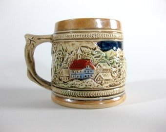 Vintage Sanyo Collectible Mug ~ Stein ~ Village and People