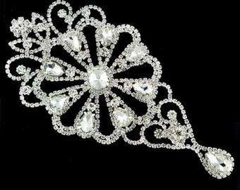 "Gorchess Crystal Applique Height 6.5"" Width 3"" 1 pcs"
