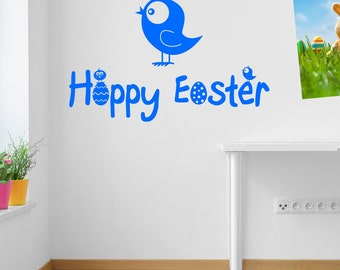 Easter Eggs Wall Stickers Kids Nursery Play Room Home Art Decoration Children Decals Removable Handmade School Bedrooms Bright VC-A148