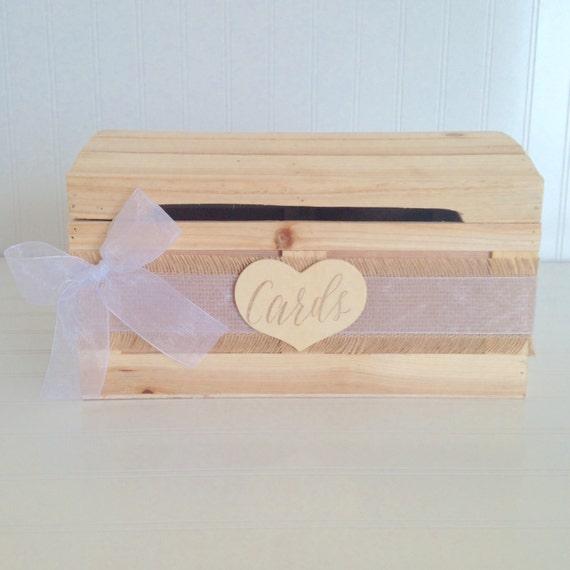 Rustic Wedding Card Box, Seaside Decor, Wedding Advice Box, Beach Wedding, Rustic Nautical Wedding, Nautical Box // CH07
