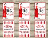 Valentine Printable, Kids Valentine, Printable Valentine,Soda Valentine, Instant Download