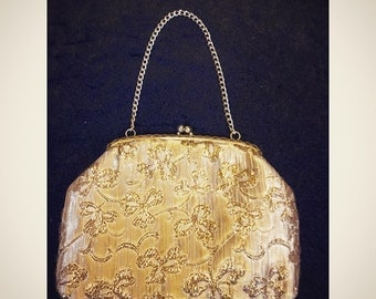 Vintage Original 1960's Gold Purse Bag.