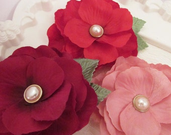 Fabric Flower, Camellia Flower, Craft Flower, Silky Flower, Pearl Centre, Embellishment, Card making, Giveaway, Home Decor, Decoration
