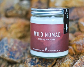 Soy Candle for Him - Wild Nomad- All Natural Soy Candle | Earthy Candle | 8 oz