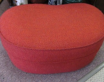 Vintage 1950's Red Ottoman/Foot Stool