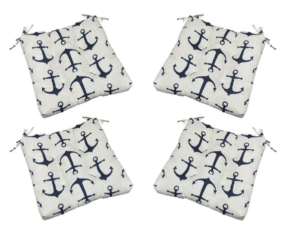 Navy Blue Patio Chair Cushions Outdoor Cushion Set Ft Walton 2pk