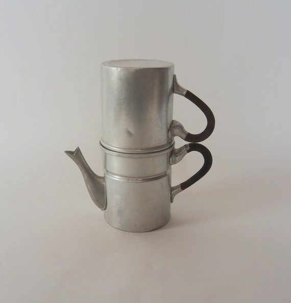 Italian Coffee Maker For Camping : Vintage Coffee Pot Italian Espresso Maker Made by injoytreasures