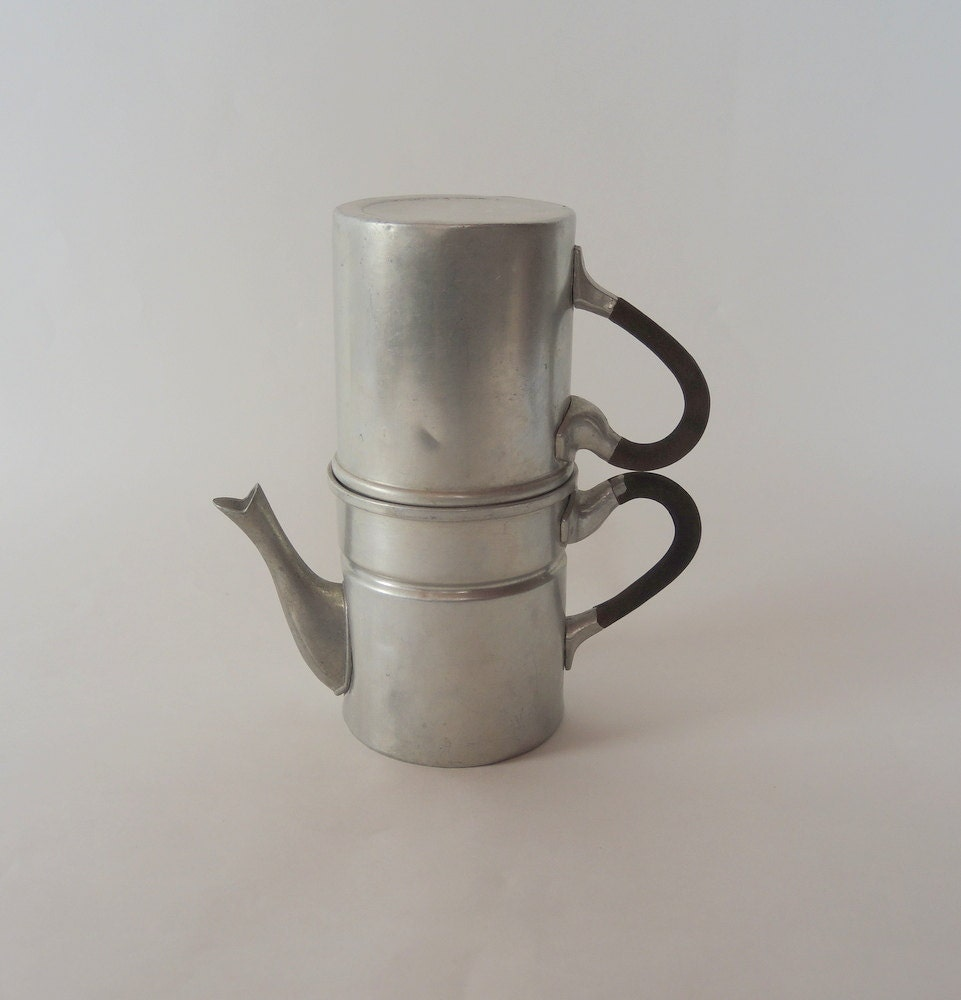 Italian Coffee Maker Stuck : Vintage Coffee Pot Italian Espresso Maker Made by injoytreasures