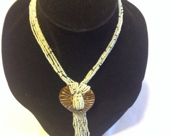 Light beige necklace