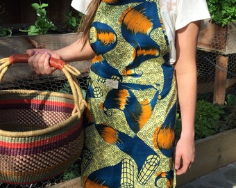 African Chef-style Kitchen Apron