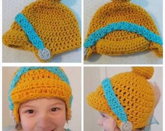 Cinderella crochet hat or brannie
