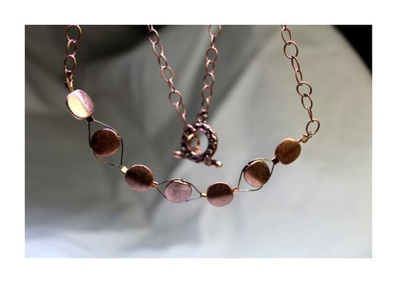 items similar to metal necklace quot pennies from heaven quot on etsy