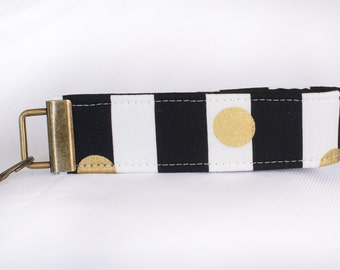 Key Fob Wristlet - Spotted Gold