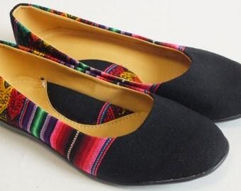 Woven Flats / Shoes / Balerina handmade size 8.5 B from Peru