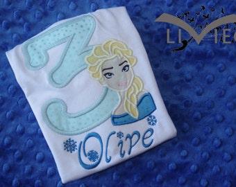 Elsa or Anna Frozen Birthday Shirt