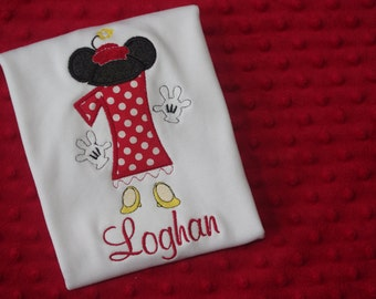 Minnie Mouse Classic Birthday Shirt or Onesie