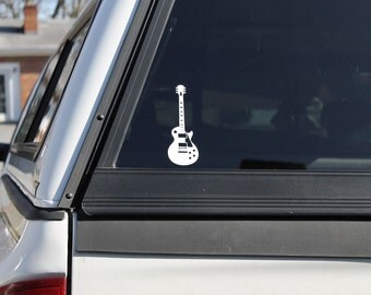 Cool guitar decal, Electric Guitar Sticker, Vinyl guitar decal, Classic Guitar Sticker, Guitar graphic decal, car truck guitar decal sticker