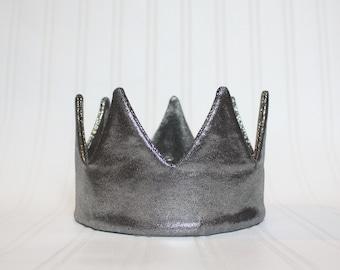 Gun Metal Crown - First Birthday Crown - Modern crown - 1st birthday