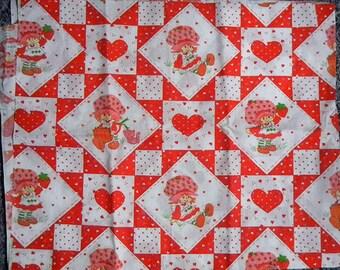 Vintage Strawberry Shortcake fabric