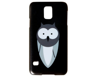 Chalkboard Style Wide Eyed Owl Hard Plastic for Samsung Galaxy S5 Case S4 Cute Trendy Back Cover New Printed in USA c190