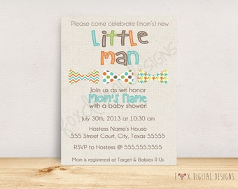 Bowtie Baby Shower Invitation - Custom - Printable