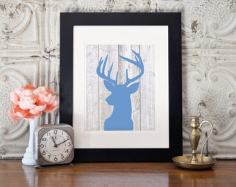 Deer Silhouette Wall Art - 8x10 - Printable - Instant Download