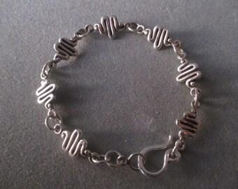 Sterling Silver Squiggle Link Bracelet #BL32SS