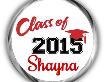 Class of 2015 Graduation Stickers • Personalized Graduation Sticker for Favors
