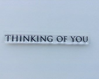 New for Rubber Stamping & Card Making Clear Acrylic Rubber Stamp By FISKARS --  Thinkinh Of You #13