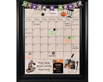 chalkboard calendar framed calendar