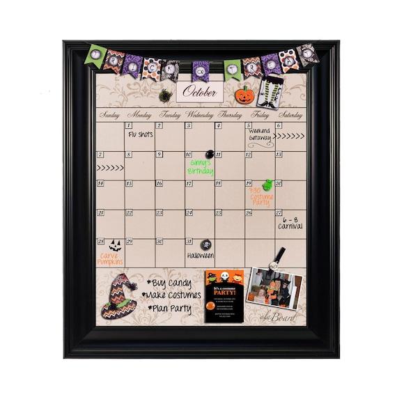 Chalkboard Calendar Framed : Chalkboard calendar framed