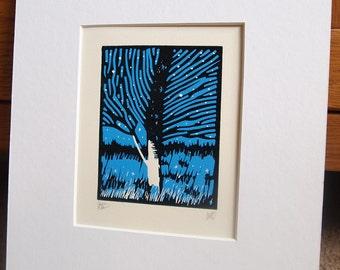 Autumn Leaves ll Lino Print Lino Cut