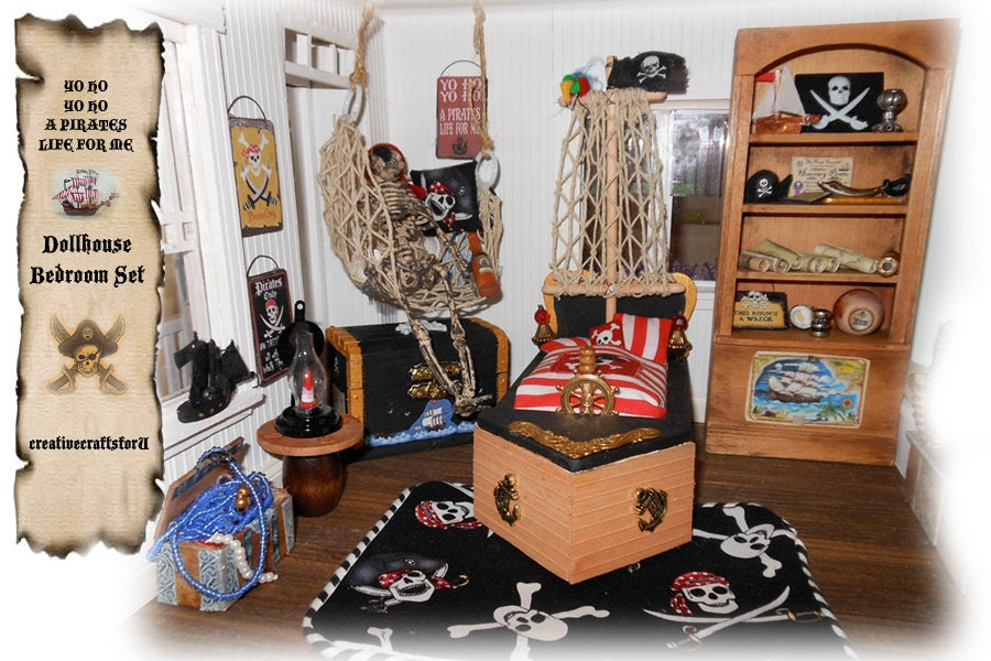 reserved dollhouse pirate bedroom set boys bedroom