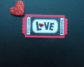 Ticket, Love Ticket, Valentine Ticket, Ticket Tag, Heart