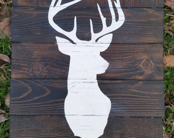 Rustic deer wall decor, rustic deer bust