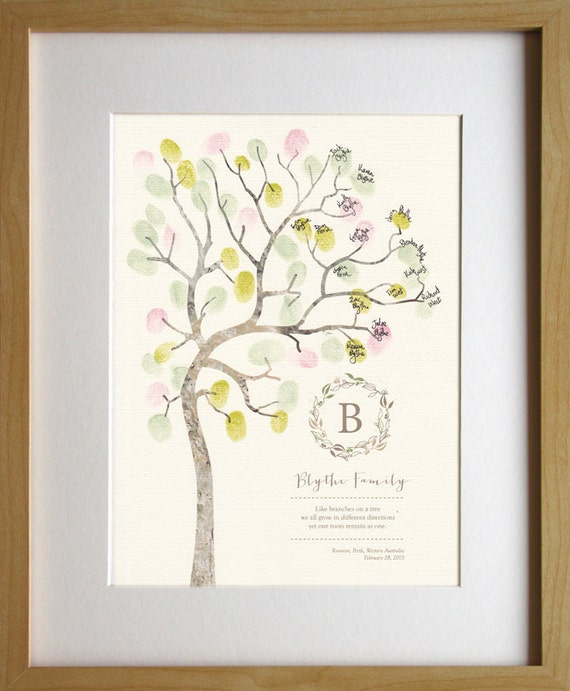 fingerprint tree on etsy