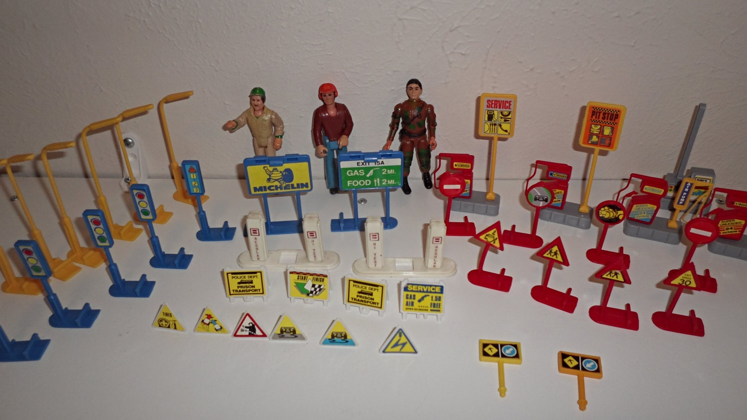 Large Set Of Vintage Miniature Toy Road Signs Gas Pumps And 3. Quilt Signs. Tram Signs. Number 1 Signs. Family Love Signs. Stall Signs. Element Signs. Victim Signs. Roundabout Signs