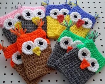 Owl Fingerless Gloves - Fingerless Mittens