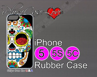 iphone 5 case - iphone 5s case - iphone 5c case -  sugarskull iphone 5 case - sugar skull iphone 5s case  - sugar skull iphone 5c case - S10