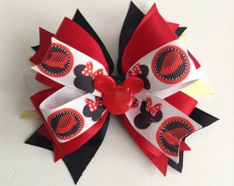 Red Minnie Mouse Girl Hair Bow, Baby Girl Hair Bow!!