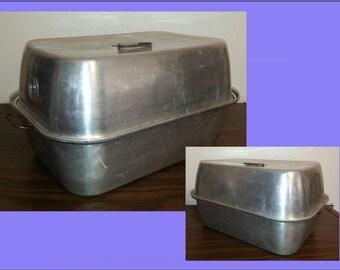 Items Similar To Turkey Roasting Pan Large Antique