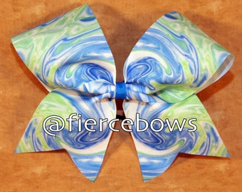 Summer Swirl Sublimated Cheer Bow