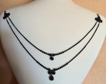 Emmy - Swarovski crystals back necklace