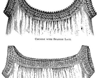 AG1626 - 1877 2 Ladies Chemises Pattern by Ageless Patterns