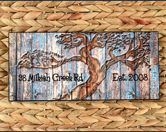 Tree of Life Personalized Housewarming Gift New Home Gift Wood-Look Key Holder Rack Hanger Wedding Gift Home Sweet Home Wall Organizer