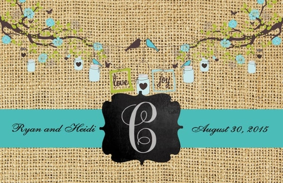 Wedding Paper Placemats Premium, Rehearsal Dinner Placemats, Personalized Placemats, Monogrammed Monogram Placemats, Wedding Decorations