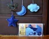 Kids Sewing Kit, Moon Star & Cloud Lavender Lovey Felt