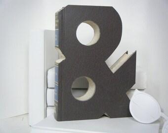 BOOK AMPERsAND  (&)  Book Art, Unique Engagement Gift, Wedding Decor, Home Decor, Teachers Gift, Office Decor, Photo Prop, Graduation Gift