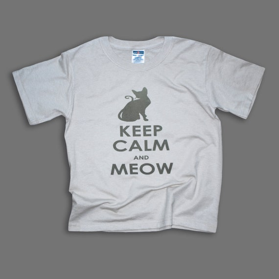 Shirt Cat Custom Keep Calm Tshirt Cat Boy Tee By